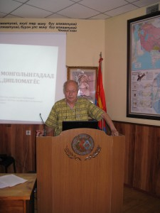 Rede beim Kongress in Ulaanbaatar